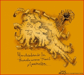 hinchinbrook Is map, North Queensland